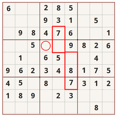 Sudoku strategy for beginners - Example 3