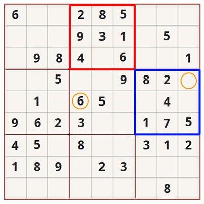 Sudoku strategy for beginners - Example 1
