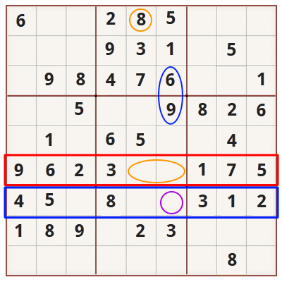 Sudoku strategy for beginners - Example 2